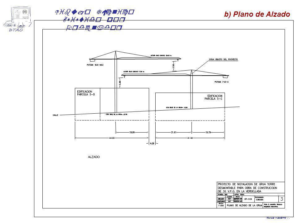 b) Plano de Alzado Rosa Navarro T.