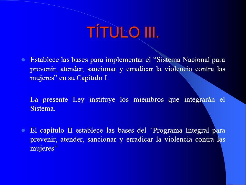 TÍTULO III.