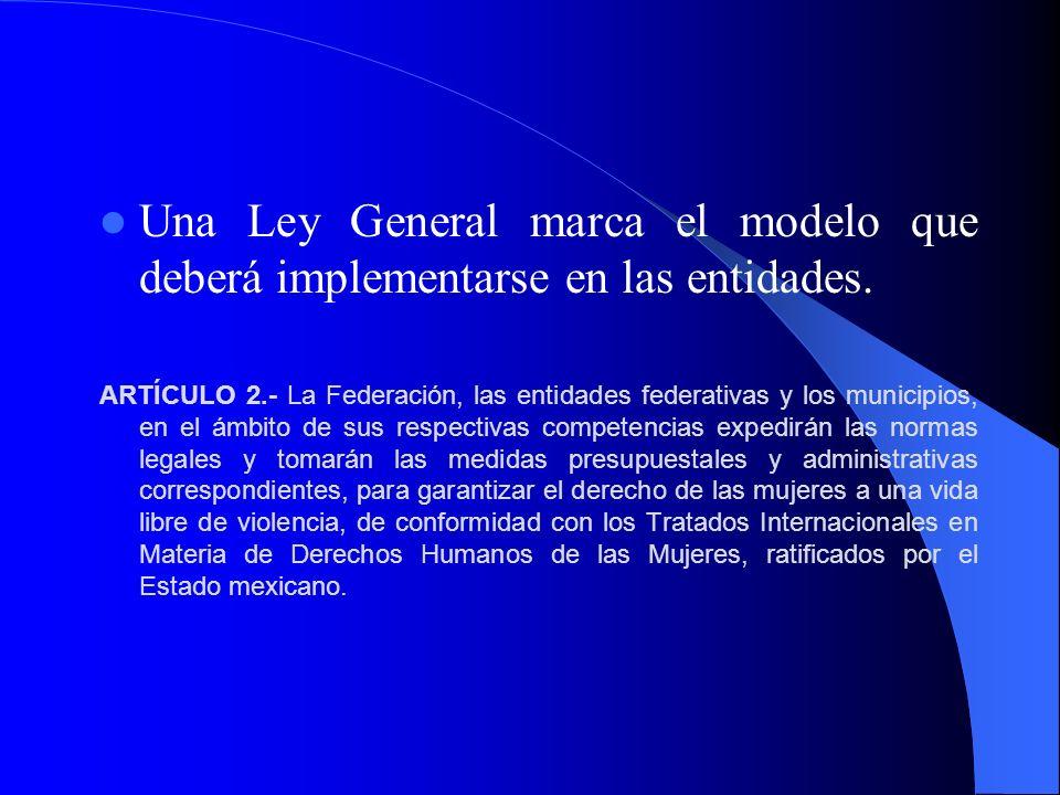 Una Ley General marca el modelo que deberá implementarse en las entidades.