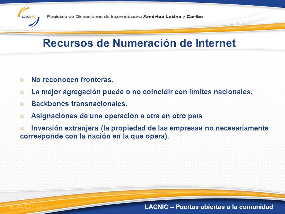 Recursos de Numeración de Internet