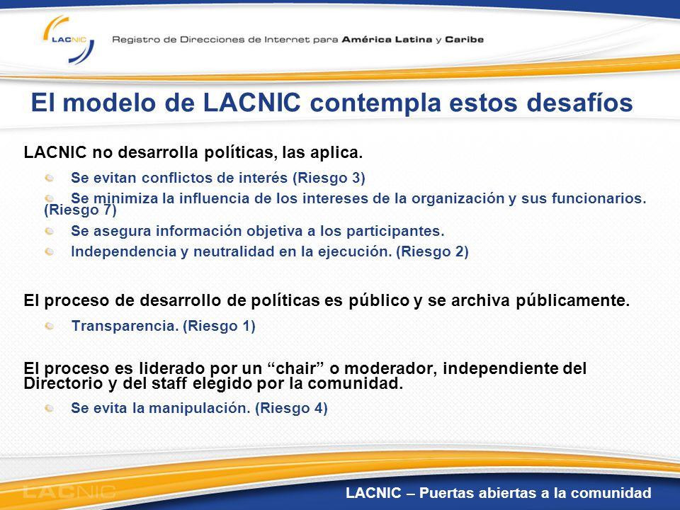 El modelo de LACNIC contempla estos desafíos
