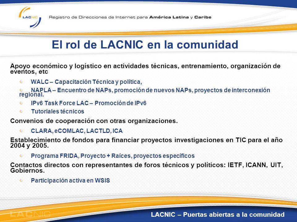 El rol de LACNIC en la comunidad