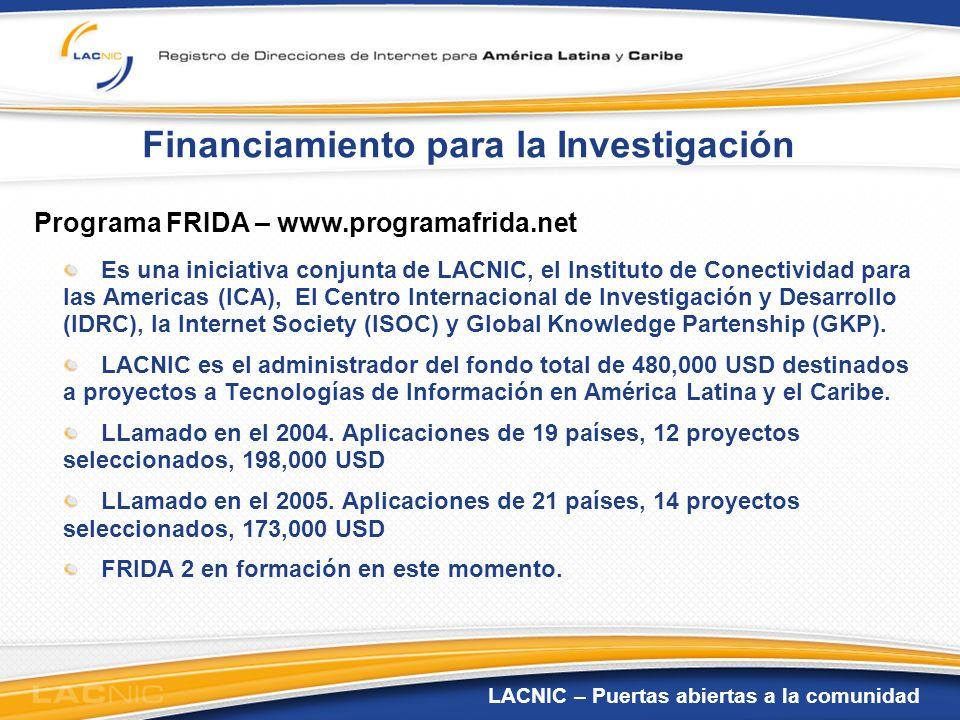 Financiamiento para la Investigación