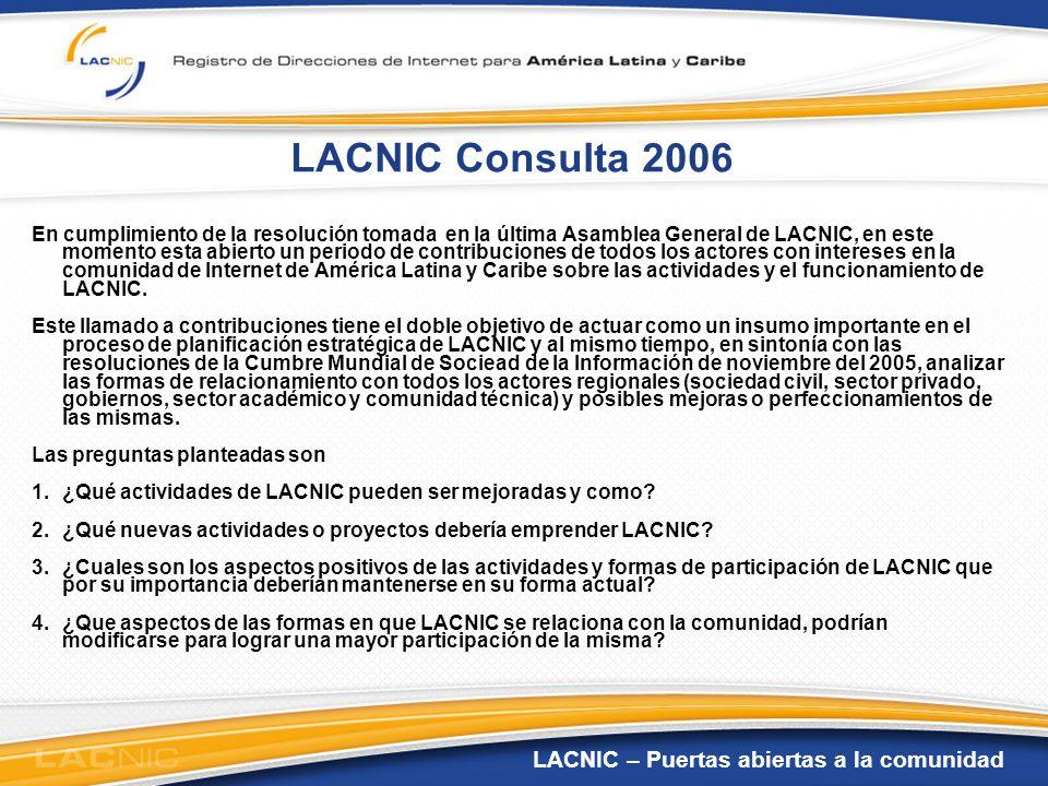 LACNIC Consulta 2006