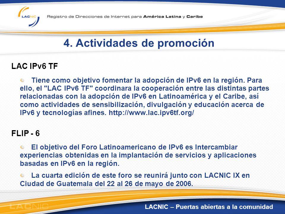 4. Actividades de promoción