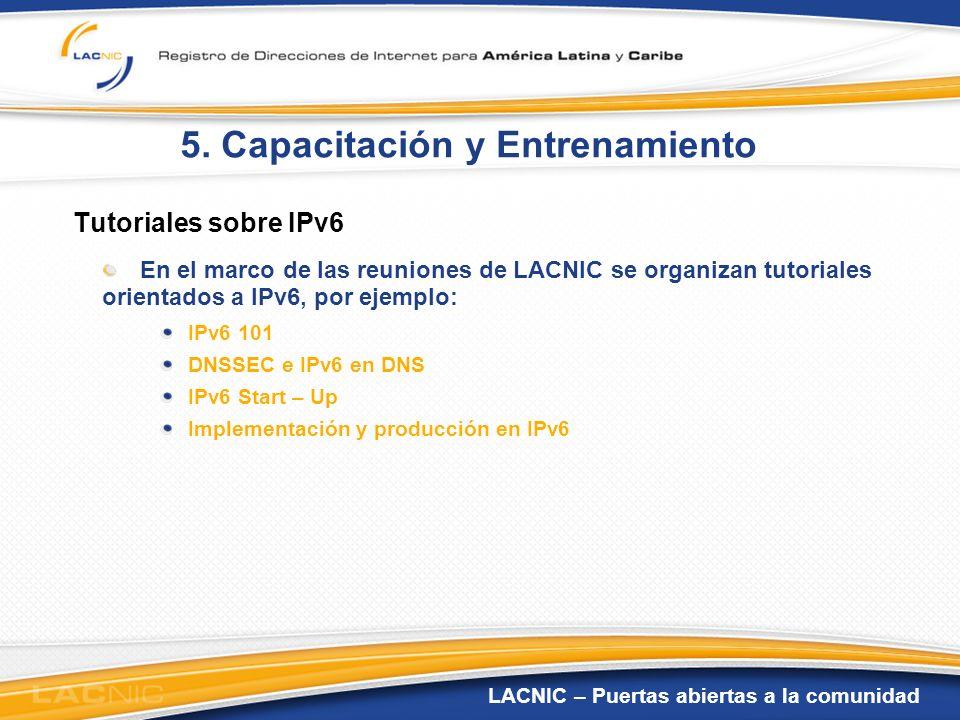 5. Capacitación y Entrenamiento