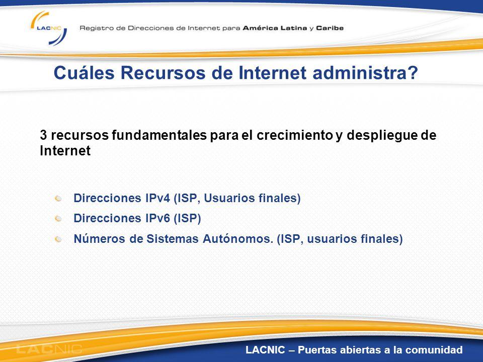Cuáles Recursos de Internet administra