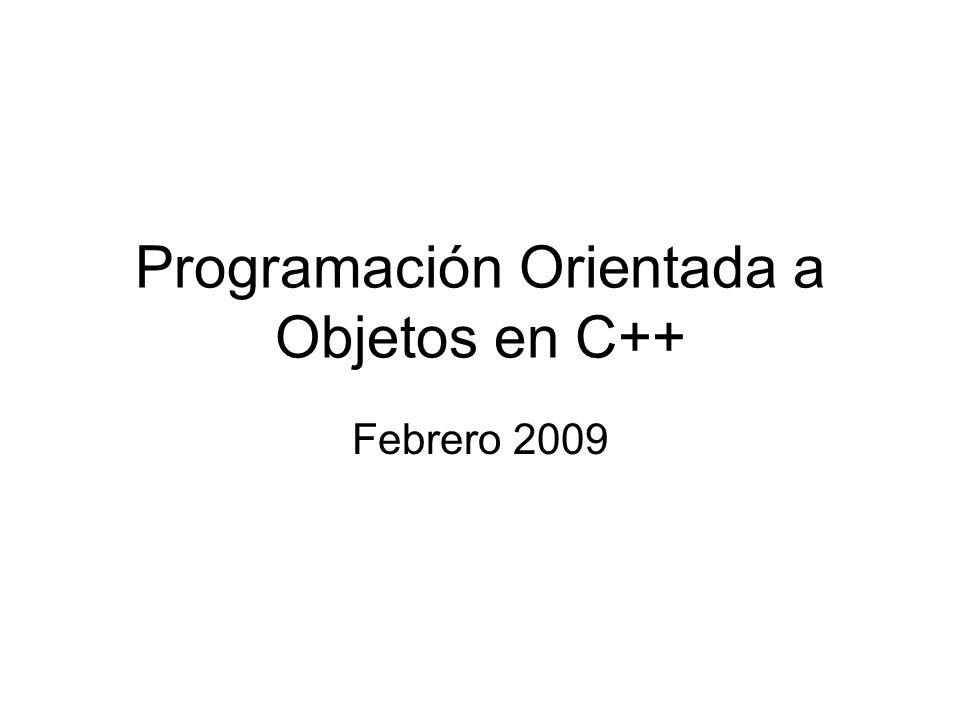 Programación Orientada a Objetos en C++
