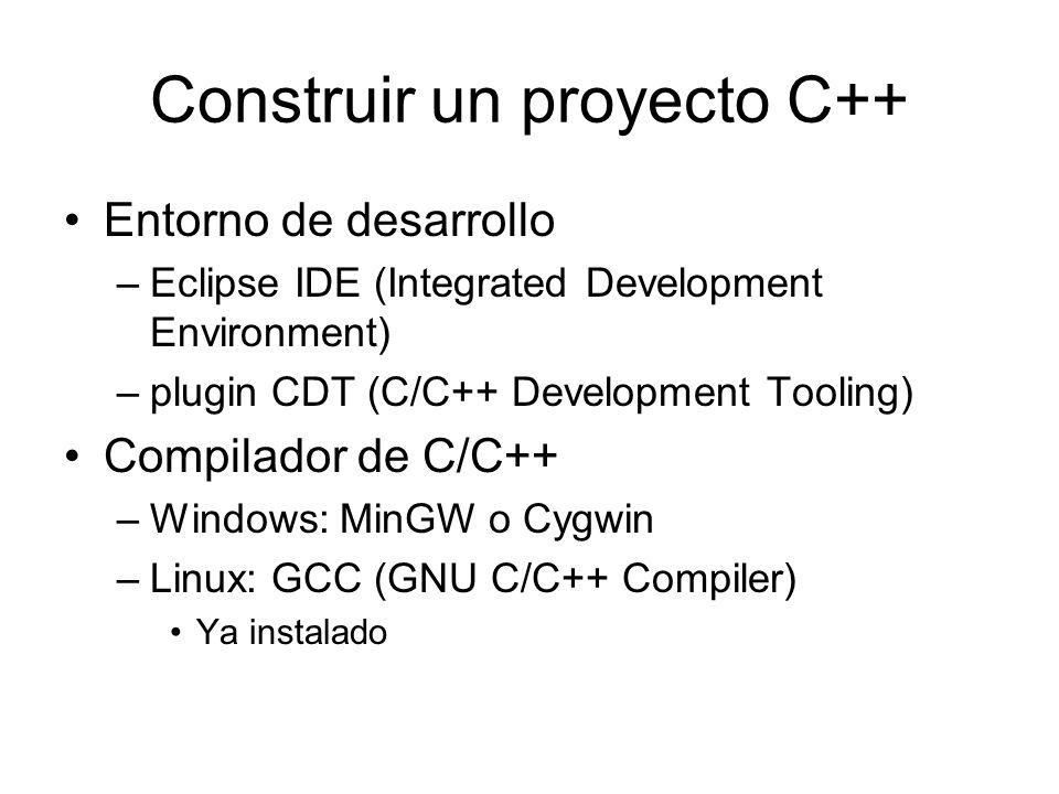 Construir un proyecto C++