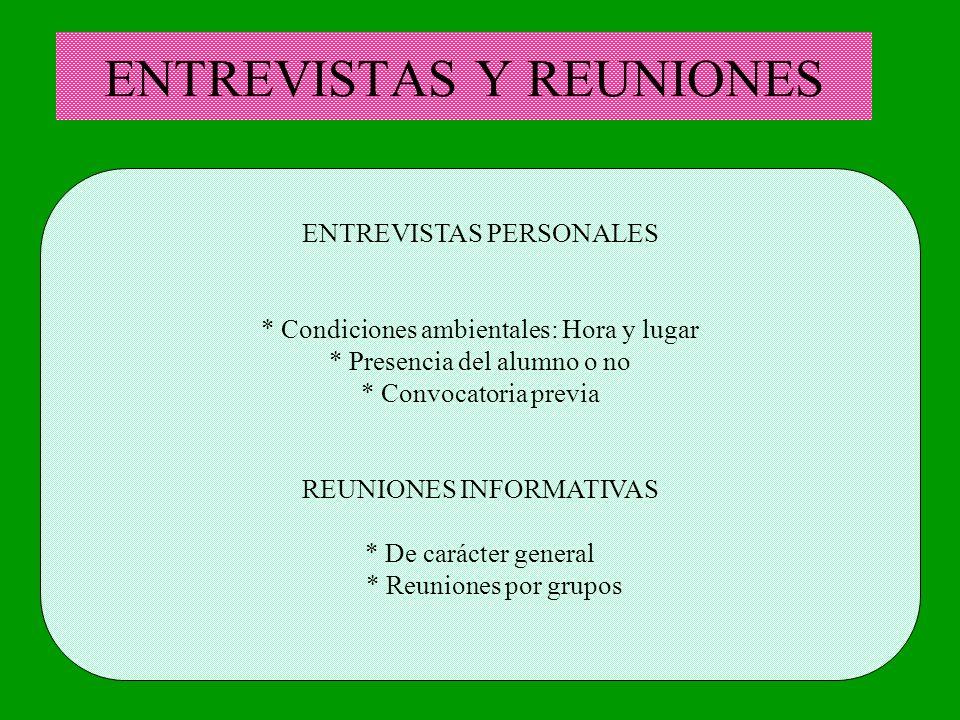 ENTREVISTAS Y REUNIONES