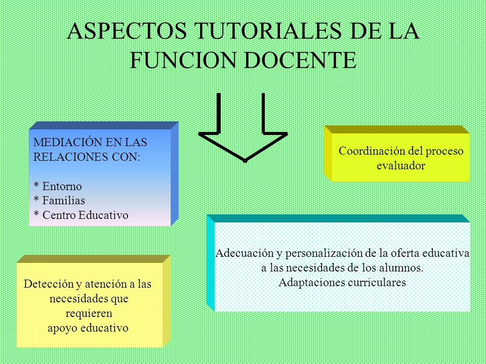 ASPECTOS TUTORIALES DE LA FUNCION DOCENTE