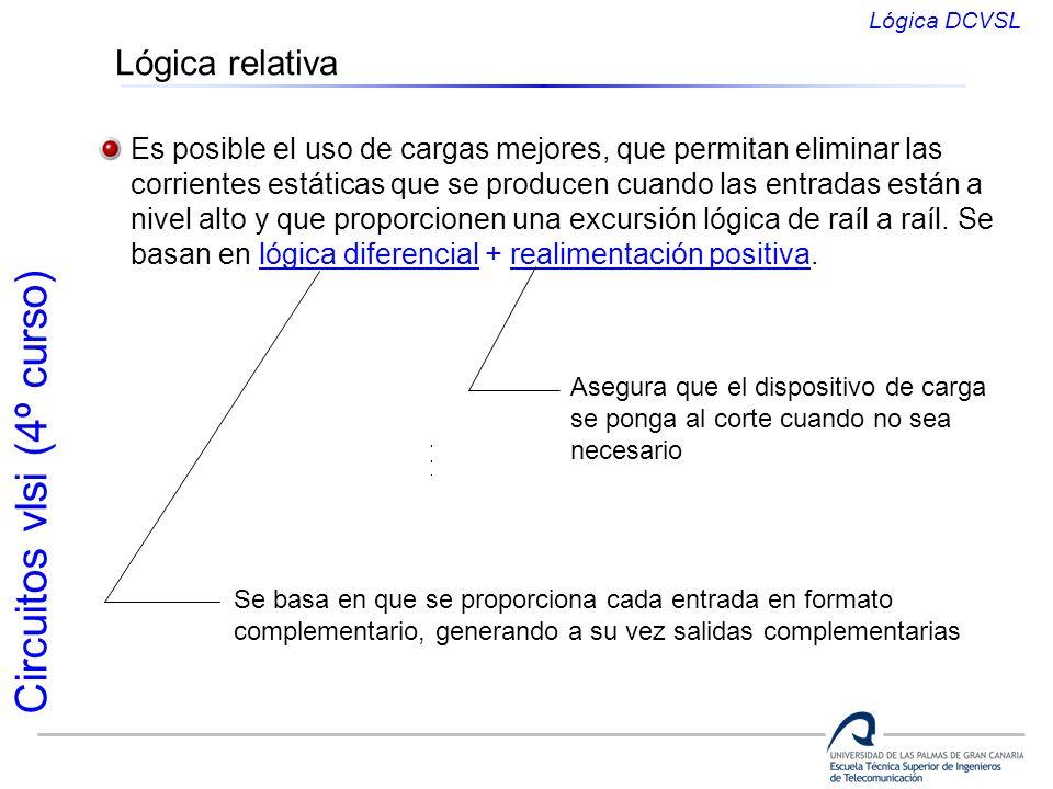 Lógica DCVSLLógica relativa. Es posible el uso de cargas mejores, que permitan eliminar las.