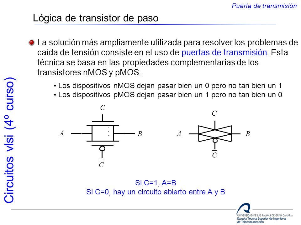 Si C=0, hay un circuito abierto entre A y B