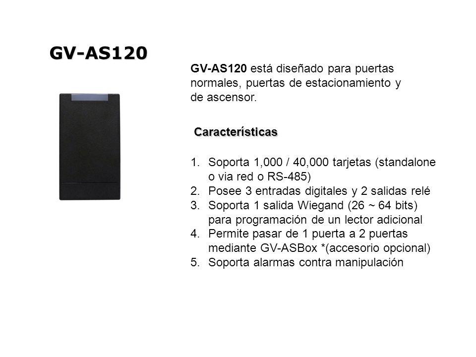 GV-AS120 GV-AS120 está diseñado para puertas normales, puertas de estacionamiento y de ascensor. Características.