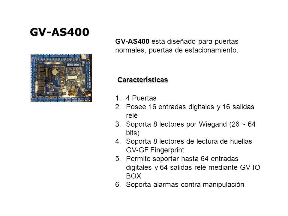 GV-AS400 GV-AS400 está diseñado para puertas normales, puertas de estacionamiento. Características.