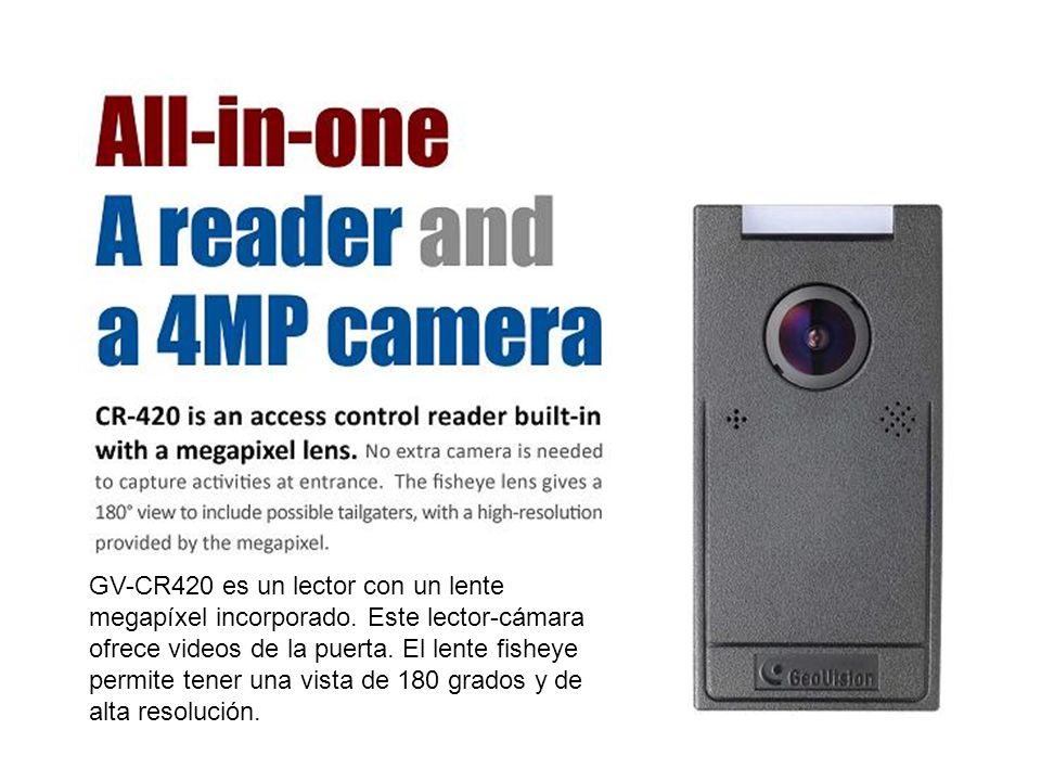 GV-CR420 es un lector con un lente megapíxel incorporado
