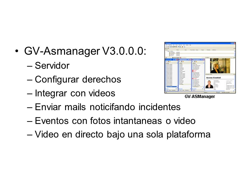 Software GV-Asmanager V3.0.0.0: Servidor Configurar derechos