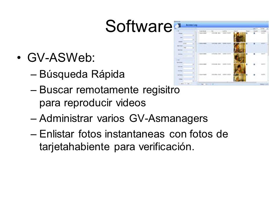Software GV-ASWeb: Búsqueda Rápida