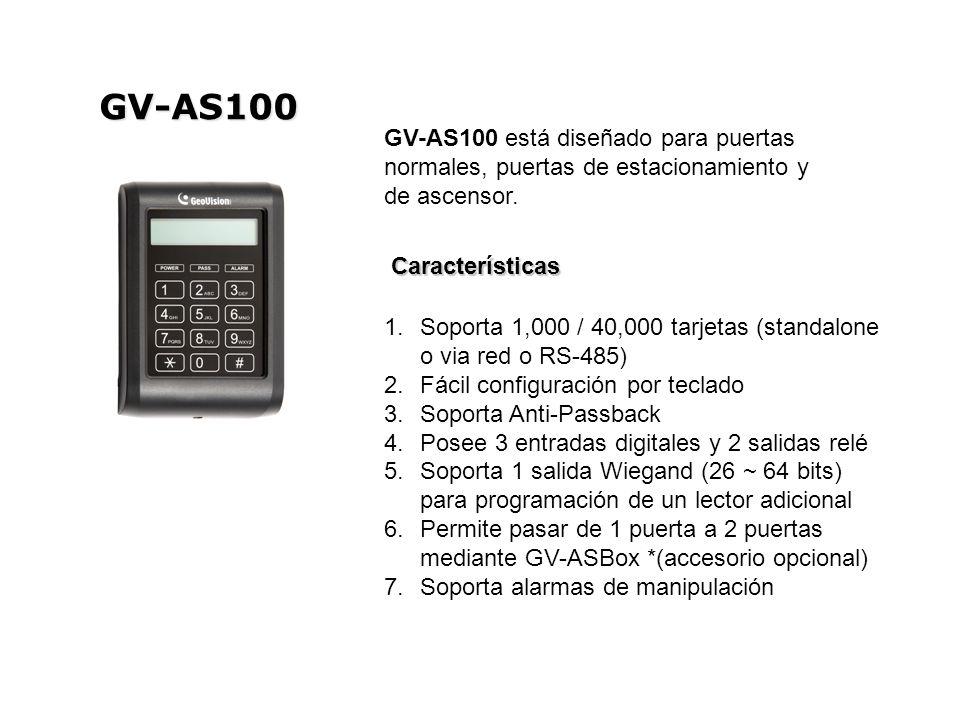 GV-AS100 GV-AS100 está diseñado para puertas normales, puertas de estacionamiento y de ascensor. Características.