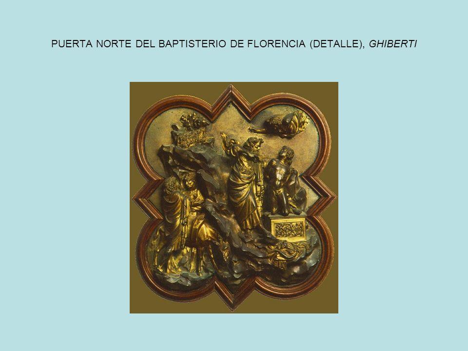 PUERTA NORTE DEL BAPTISTERIO DE FLORENCIA (DETALLE), GHIBERTI