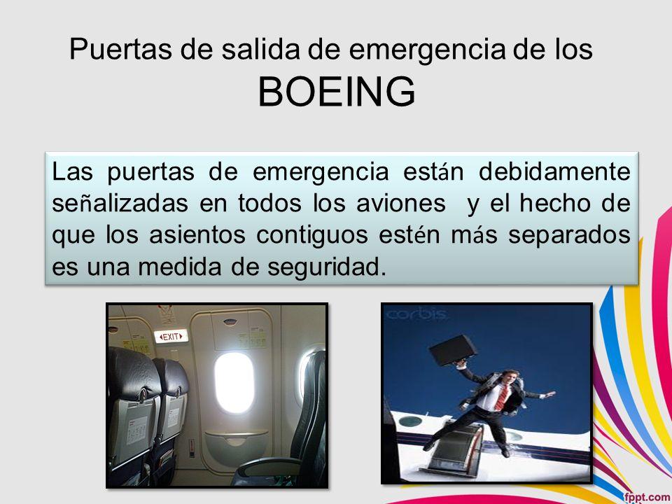 Puertas de salida de emergencia de los BOEING