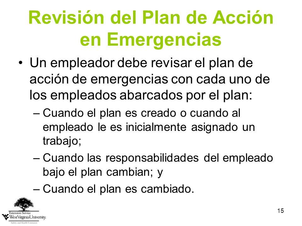 Revisión del Plan de Acción en Emergencias