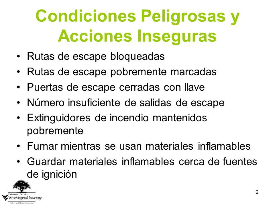 Condiciones Peligrosas y Acciones Inseguras