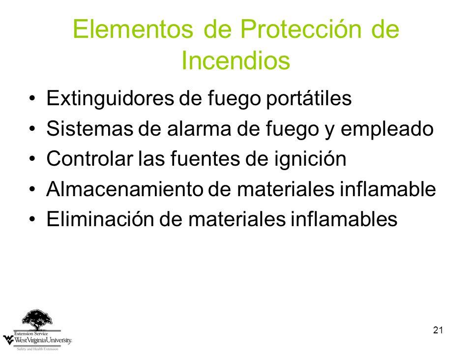 Elementos de Protección de Incendios
