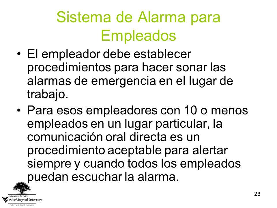 Sistema de Alarma para Empleados