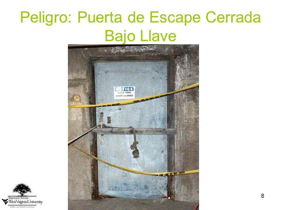 Peligro: Puerta de Escape Cerrada Bajo Llave