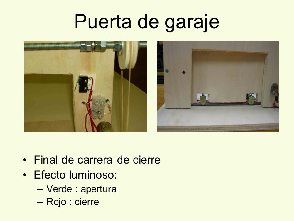 Realizado por eva m casanova castuera ppt descargar - Mecanismo puerta garaje ...