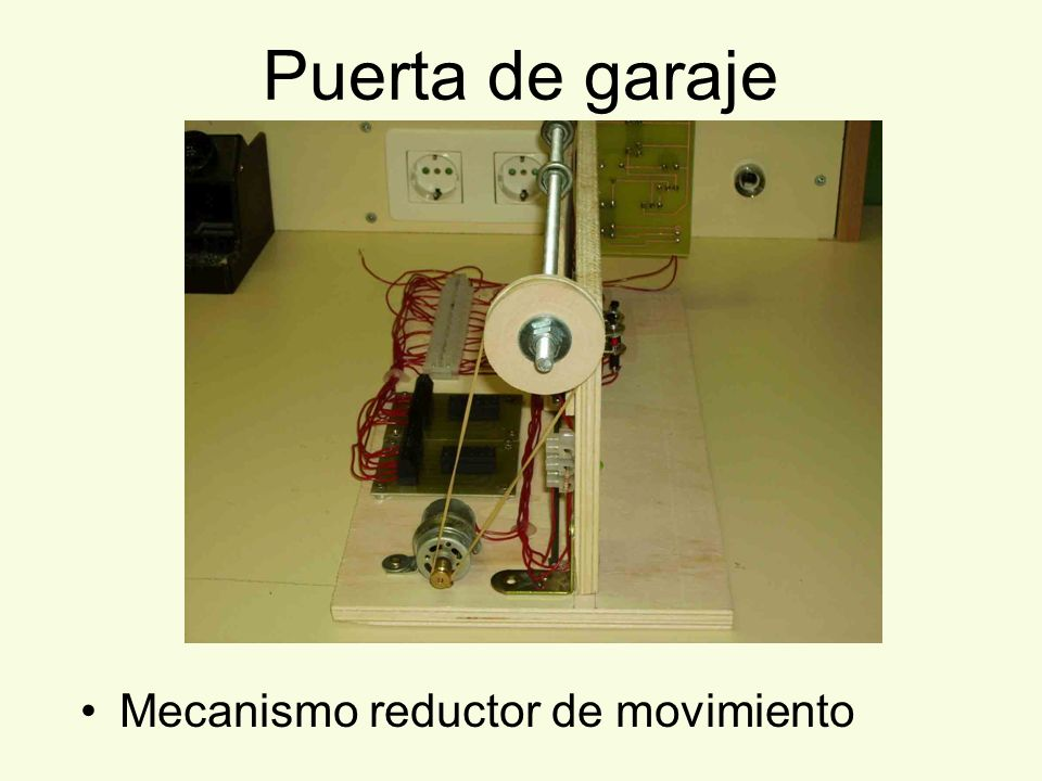 Puerta de garaje Mecanismo reductor de movimiento