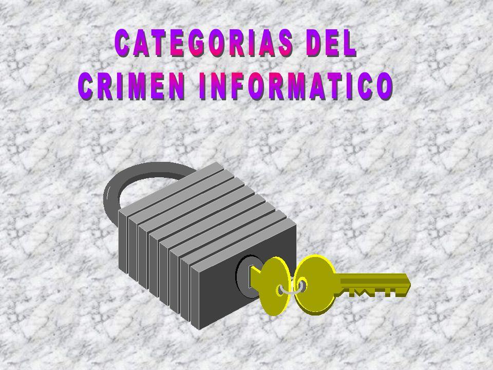 CATEGORIAS DEL CRIMEN INFORMATICO