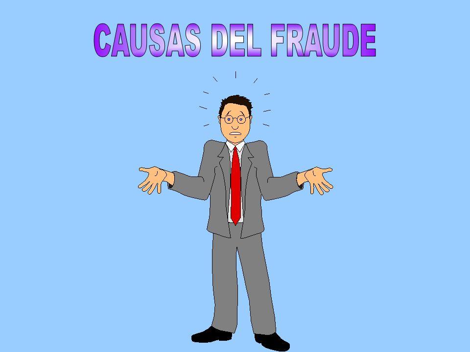 CAUSAS DEL FRAUDE