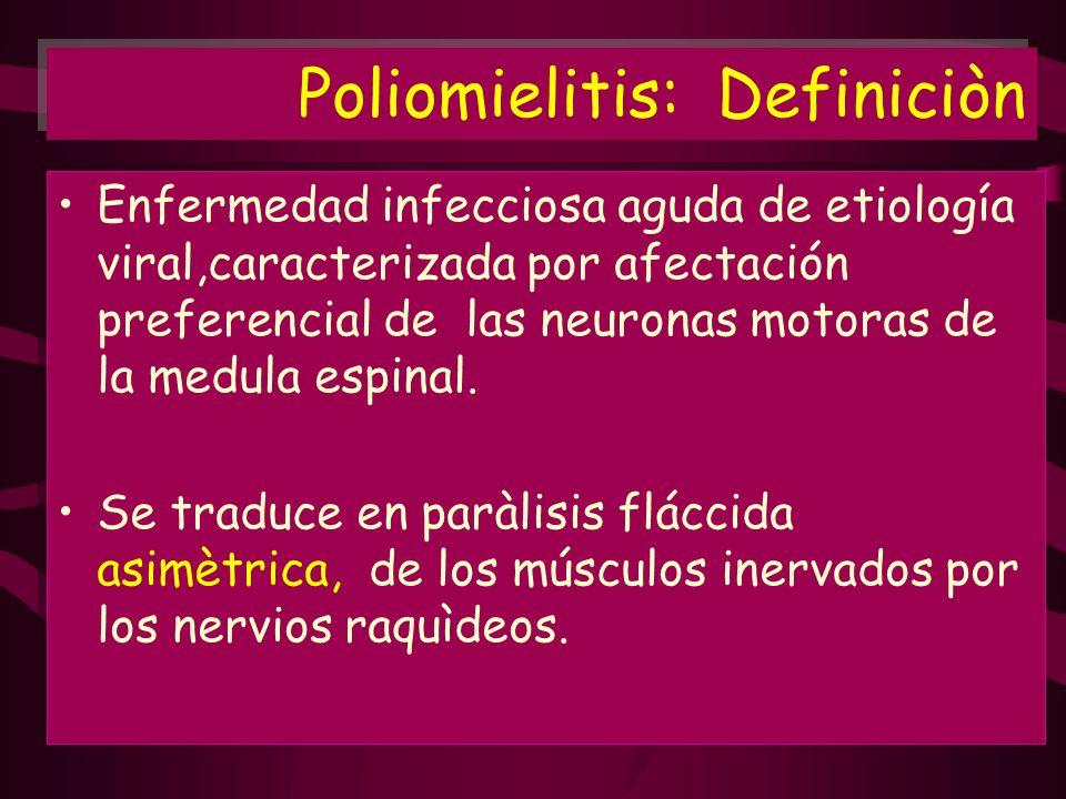 Poliomielitis: Definiciòn