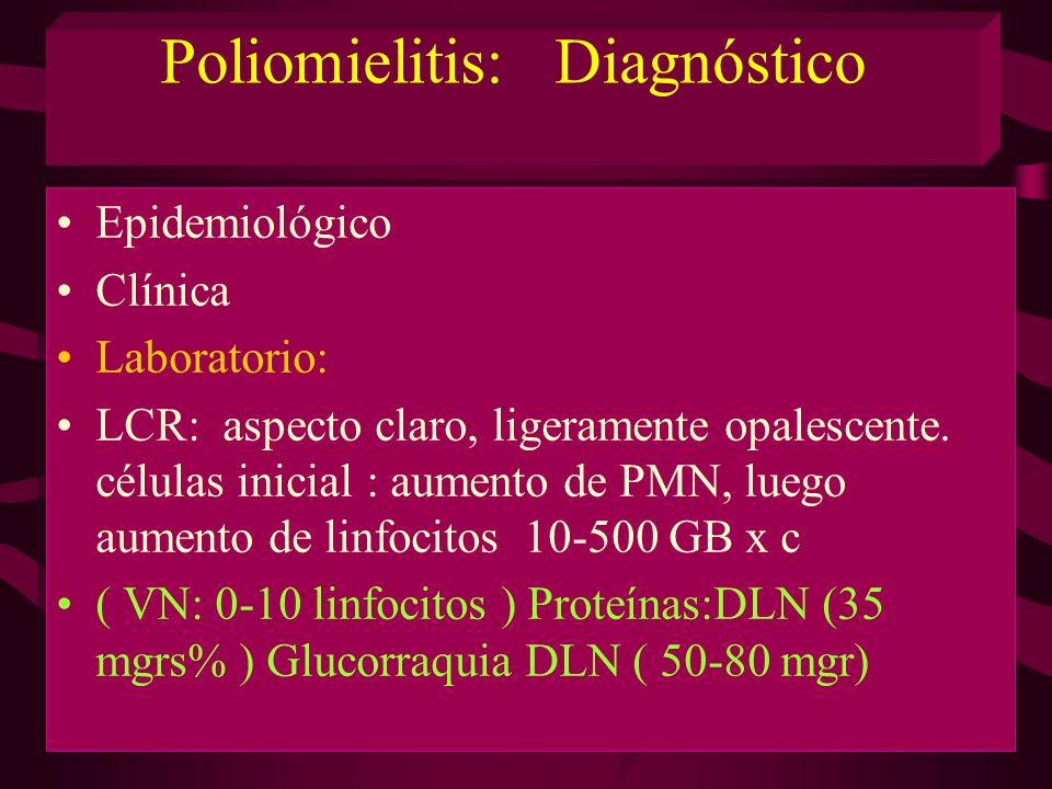 Poliomielitis: Diagnóstico