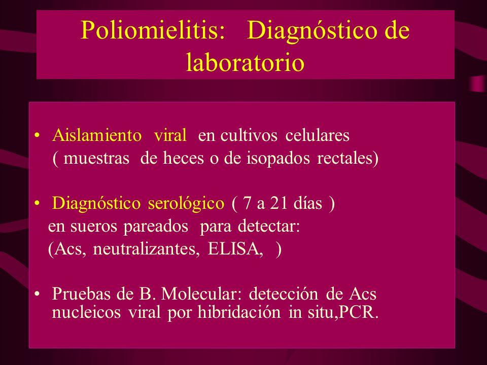 Poliomielitis: Diagnóstico de laboratorio