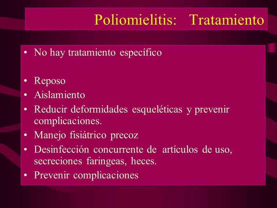 Poliomielitis: Tratamiento