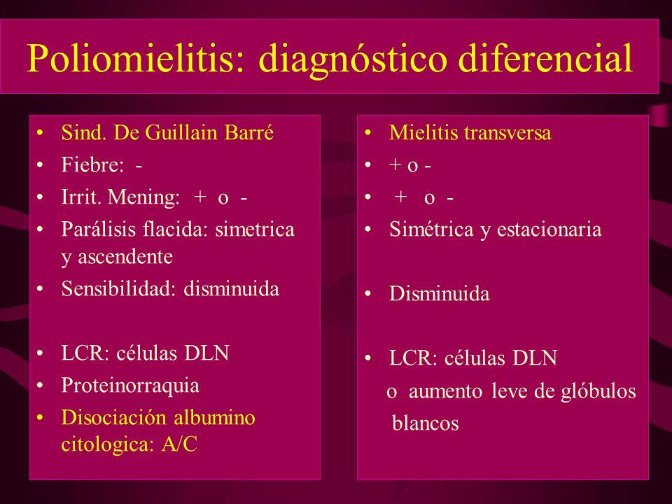 Poliomielitis: diagnóstico diferencial