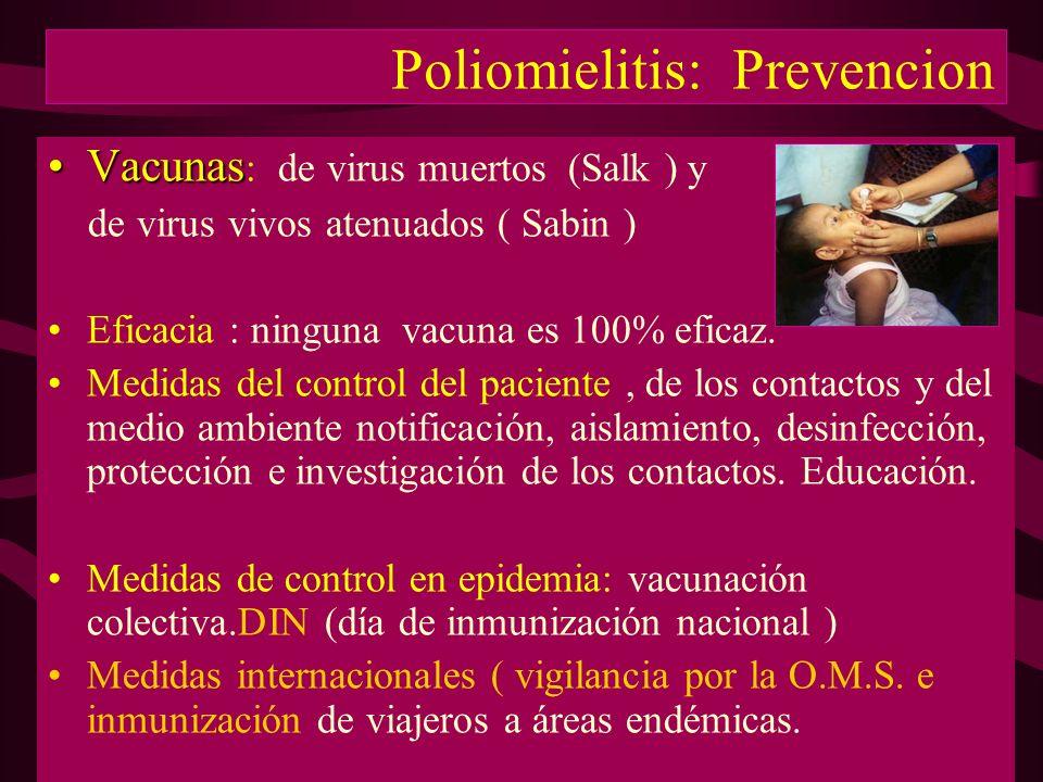 Poliomielitis: Prevencion