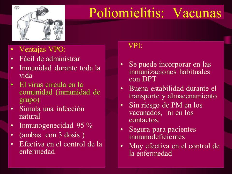 Poliomielitis: Vacunas
