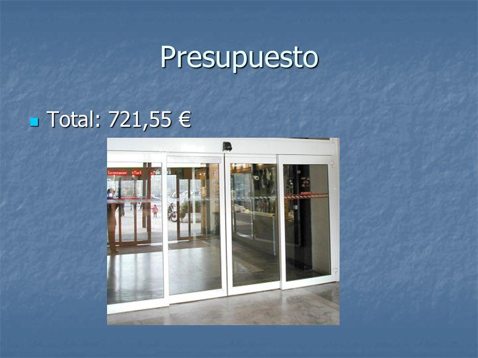 Presupuesto Total: 721,55 €