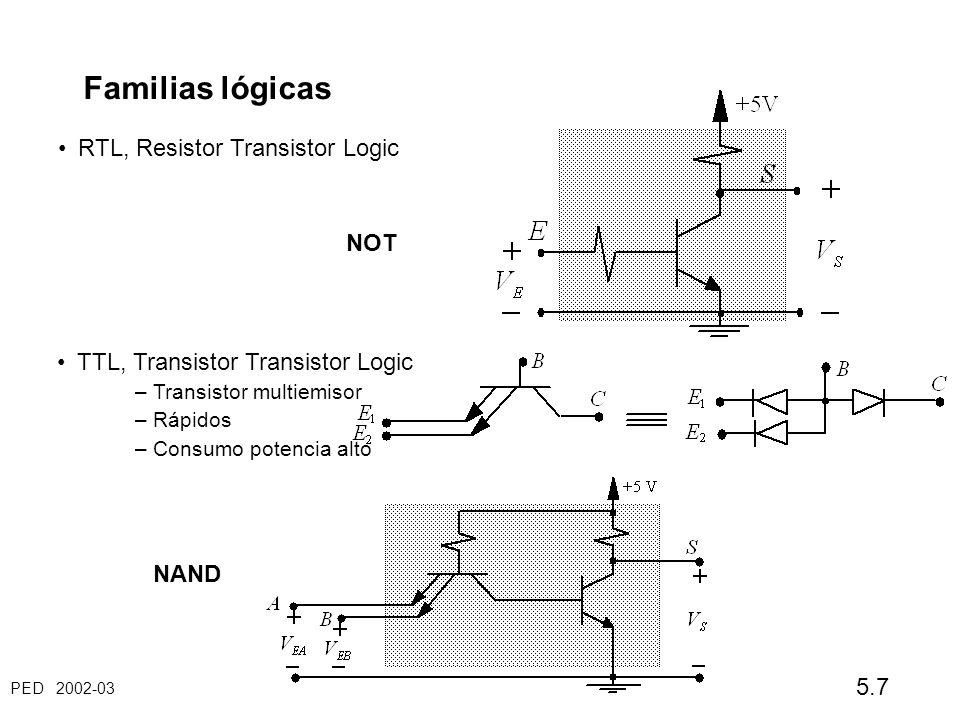 Familias lógicas RTL, Resistor Transistor Logic NOT