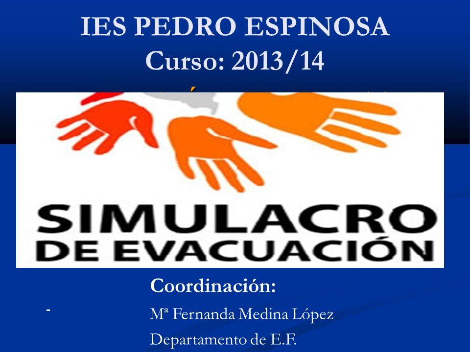 IES PEDRO ESPINOSA Curso: 2013/14