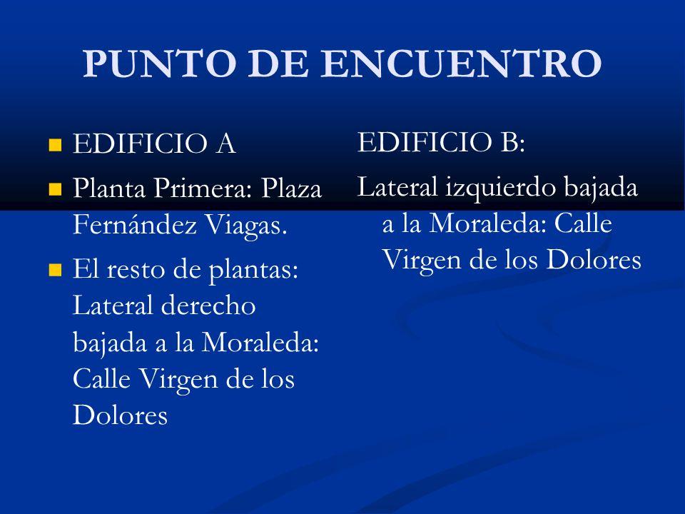 PUNTO DE ENCUENTRO EDIFICIO A EDIFICIO B: