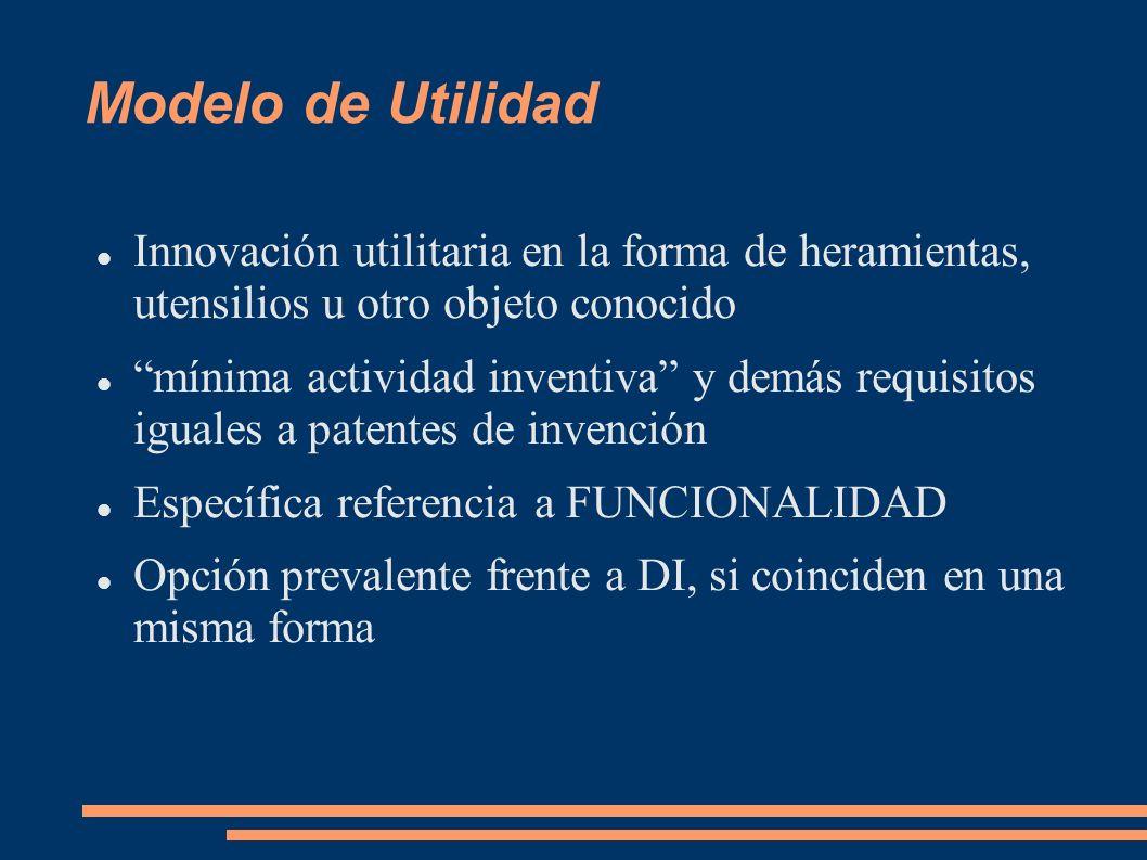 Modelo de UtilidadInnovación utilitaria en la forma de heramientas, utensilios u otro objeto conocido.