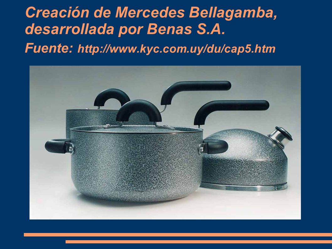 Creación de Mercedes Bellagamba, desarrollada por Benas S. A