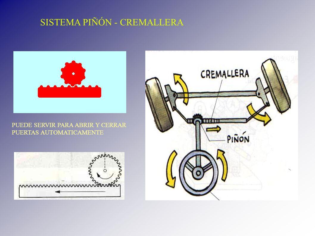 SISTEMA PIÑÓN - CREMALLERA