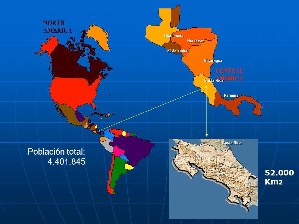 Población total: 4.401.845 52.000 Km2 Guatemala Honduras El Salvador