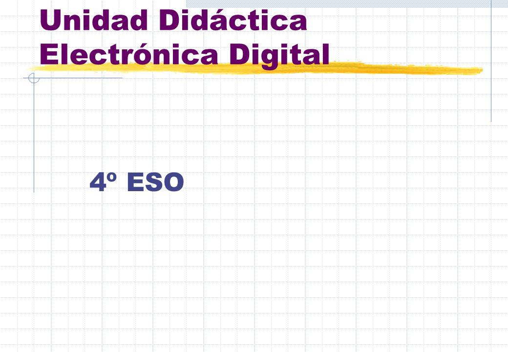 Unidad Didáctica Electrónica Digital